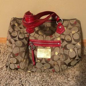 Two designer purses.